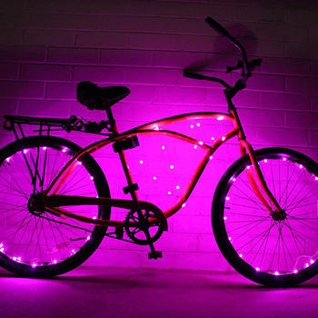 Lampu LED Lampu Basikal Super Cool Bicycle Wheel Roda itemprop =