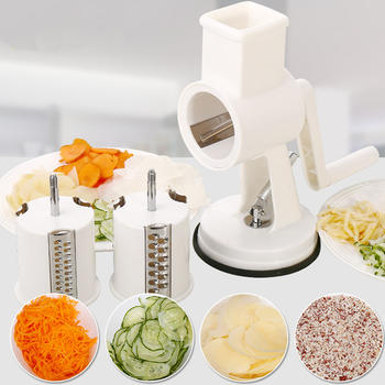 Rotary Drum Vegetable Grater Slicer Cheese Grater Cutter Shredder Grinder itemprop=