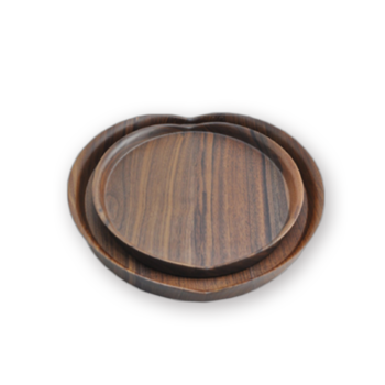 Wood Serving Tray, Black Walnut Food Serving Tray,Decorative Tray itemprop=