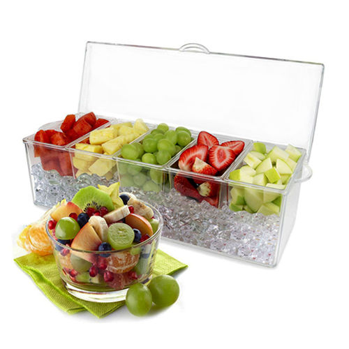 5 em 1 Removable Chilled Condiment Server On Ice