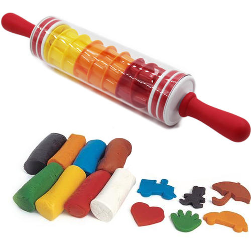 2 In 1 Diy Playdough Cookie Dough Roller And Store Pin