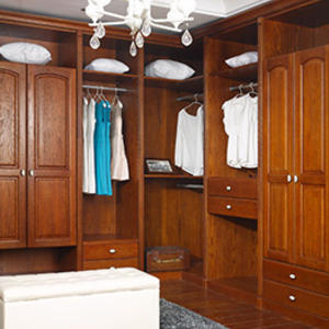 Custom solid wood wardrobe design