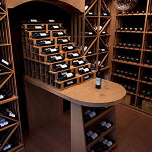 Customized bottle wine cellar manufacturer,wooden wine cellar supplier