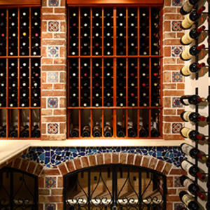 Custom wall mounted wine cellar manufacturer,fashion wooden wine cellar