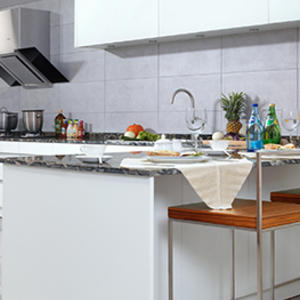LM-500 Berlin Phantom White Kitchen Cabinets