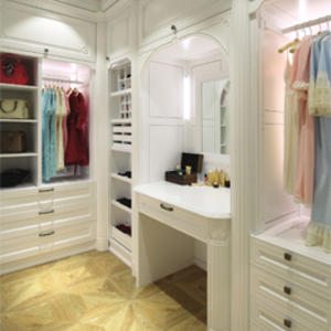 Custom white bedroom wardrobe supplier