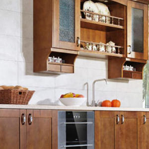 High-end solid wood kitchen cabinet manufacturer