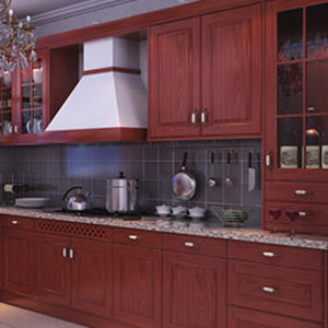 Custom wooden kitchen cabinet design