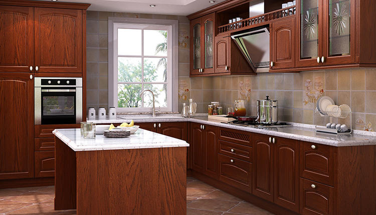 OAK-502 Boden's love wood kitchen cabinets