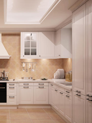 PA3001 Leipzig white kitchen units