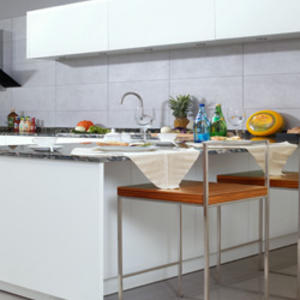 Custom white kitchen cupboards design