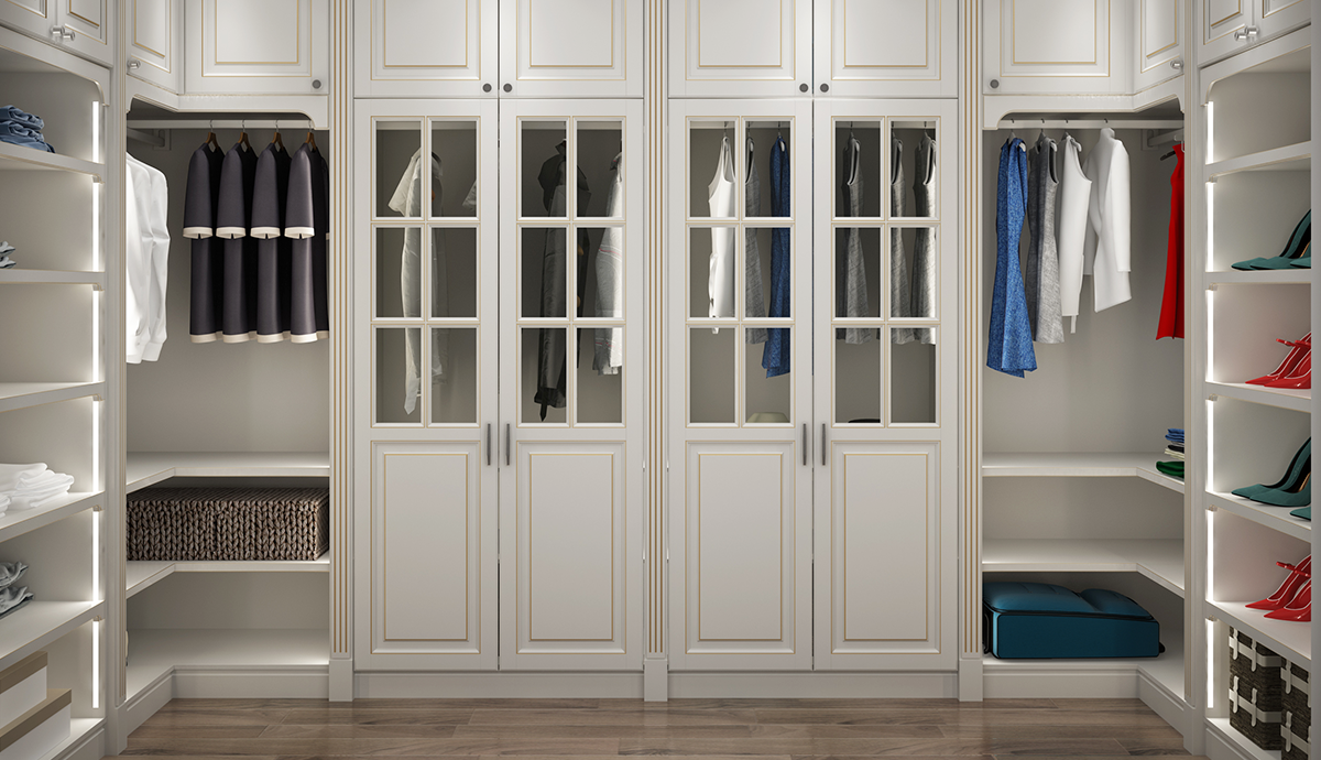 Arcese series bedroom white wardrobe