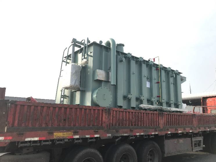 Transformer on truck alongside vessel