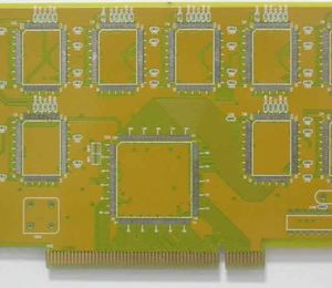 4L yellow HASL gold-finger circuit board