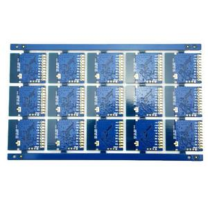 universal 2L FR4 thickness1.6mm blue plated half hole circuit board