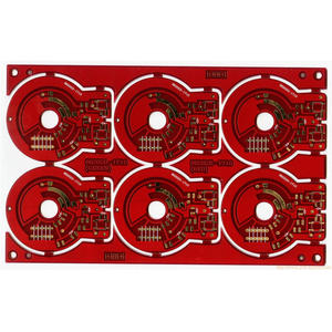 local manufacturer 8L red immersion gold printed circuit board wholesaler