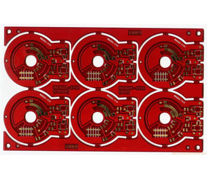 8L red immersion gold printed circuit board
