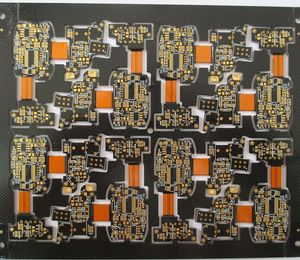 12L rigid-flex printed circuit board black gold-thickness2um 3-3mil