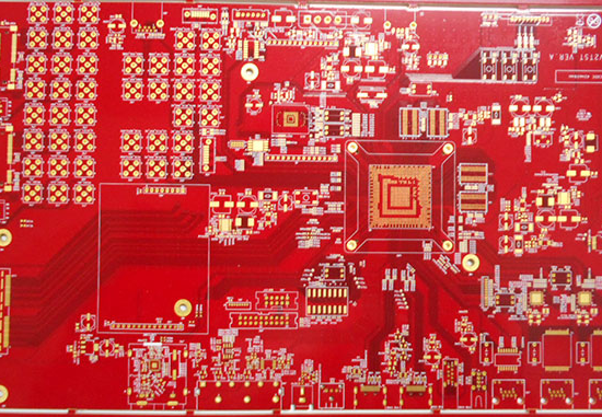 multilayer board red 5OZ CEM HDI immersion gold OSP