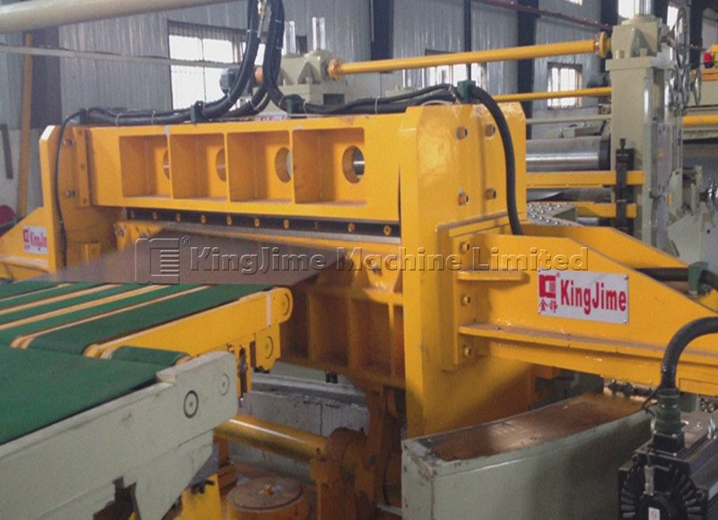 Steel coil trapezoid cutting line by swing shearing line