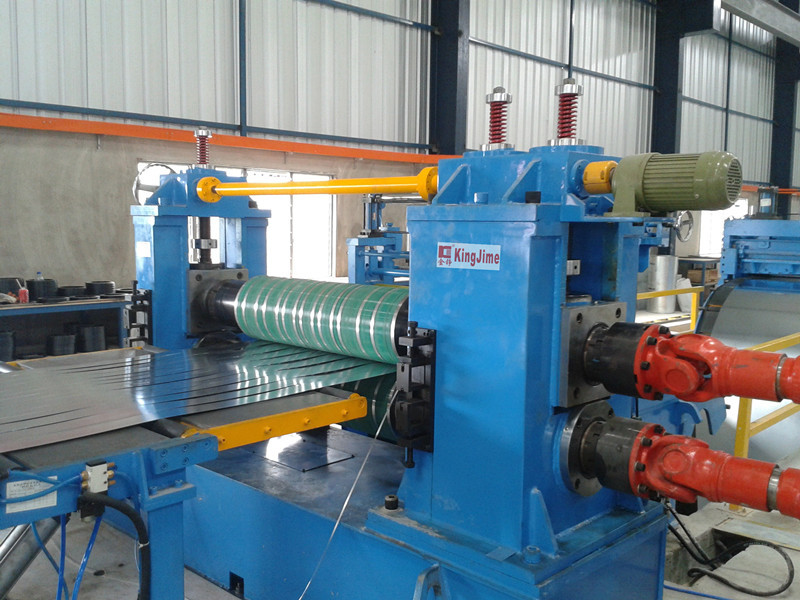 Low speed slitting line