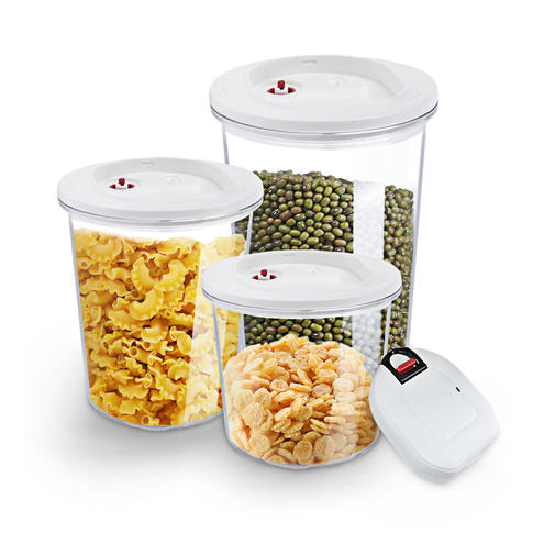 Food Storage Container Set With Automatic Vacuum Pump