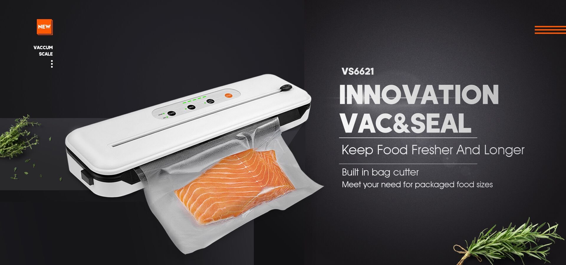 Household Kitchen Use Small Food Vacuum Sealer