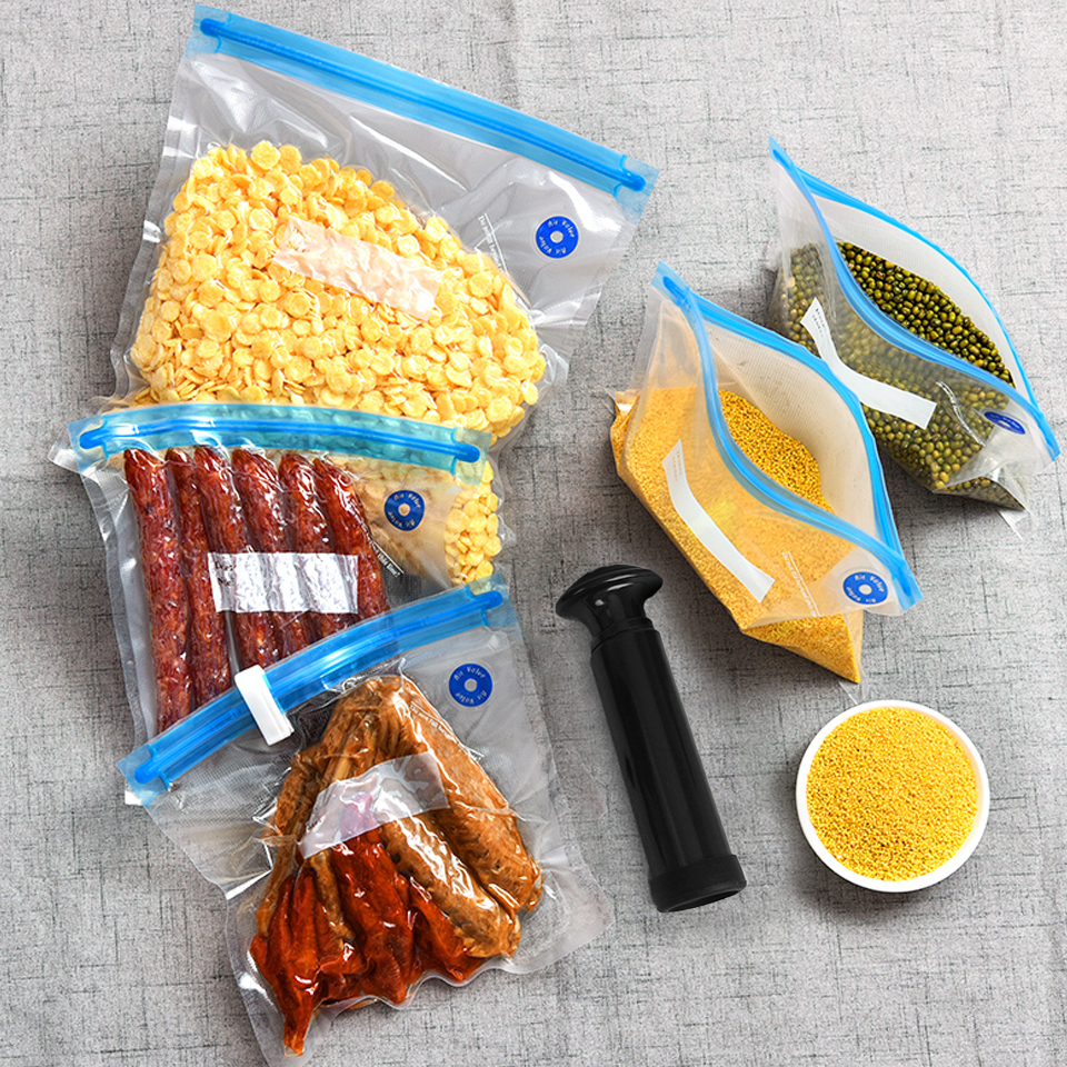 Food air valve vacuum bag