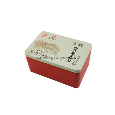 square tea tins