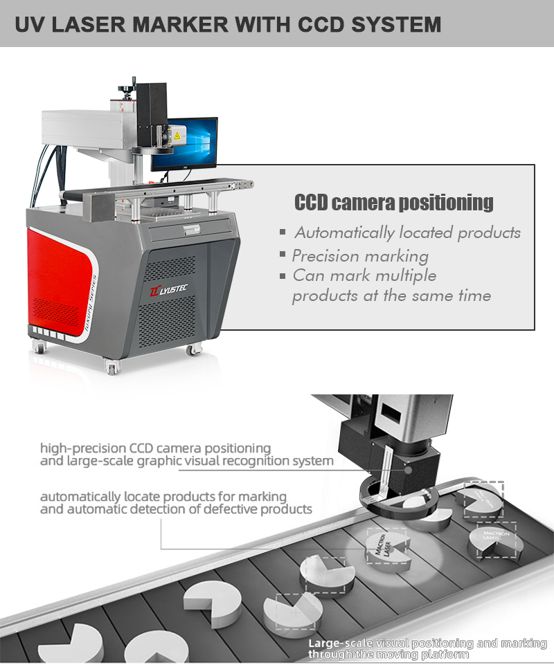 CCD-vision-uv-laser-fiber-marking-machine