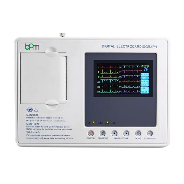 "BPM-E305 Three Channels ECG Machine 4.3""  Color Screen"