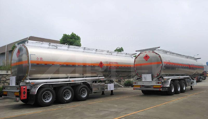 Aluminium fuel tank semi trailers