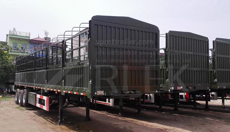 Box-stake semi trailers