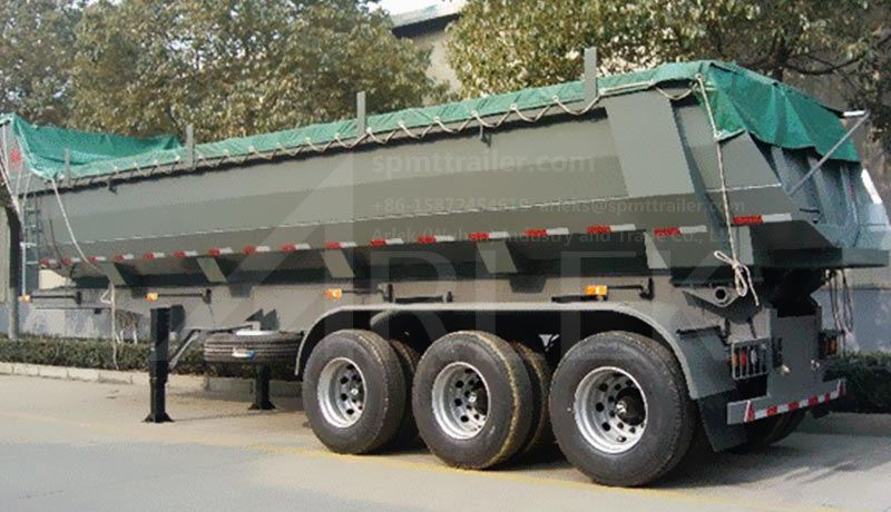 U-shaped semi trailers dumper