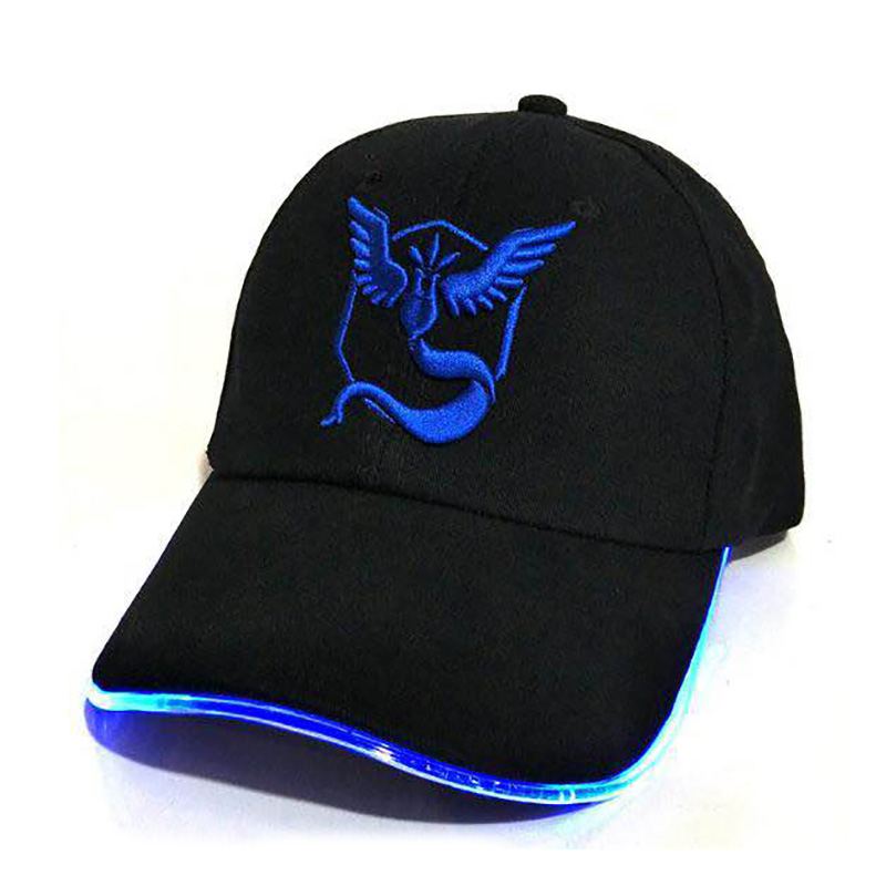 LED Black baseball hats