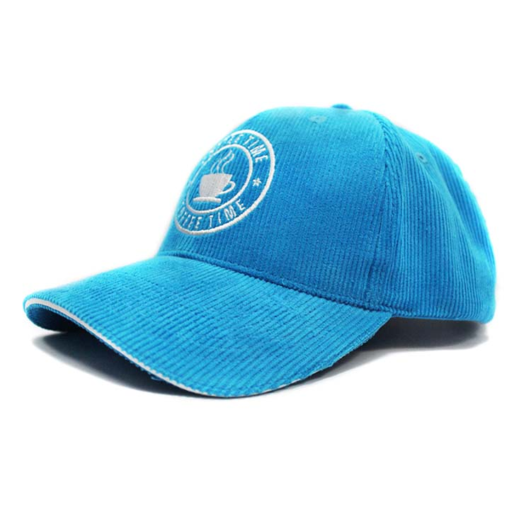 Corduroy blue baseball hats