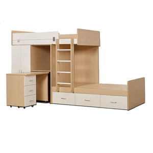 Bunk Bed Designs Children Bedroom Solid Wood Furniture