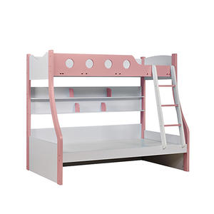 Modern Children Princess Bedroom Furniture Set Bunk Beds Pink