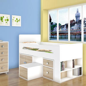 Top Quality New Model Wood Children Bunk Bed With Wooden Material