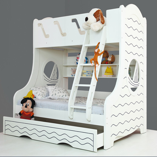 2018 New Design Children Furniture Bed Set Bunk Bed For Children