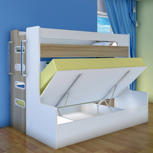Twins Bed Wall Bunk Bed, Wholesale Children Folding Bunk Bed