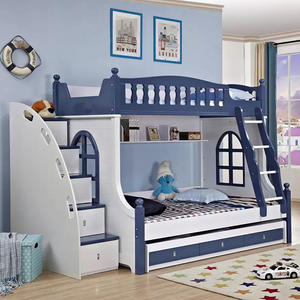 2018 Fashion Bunk Bed Wooden Elegant Bed Antique Bed For Two Children