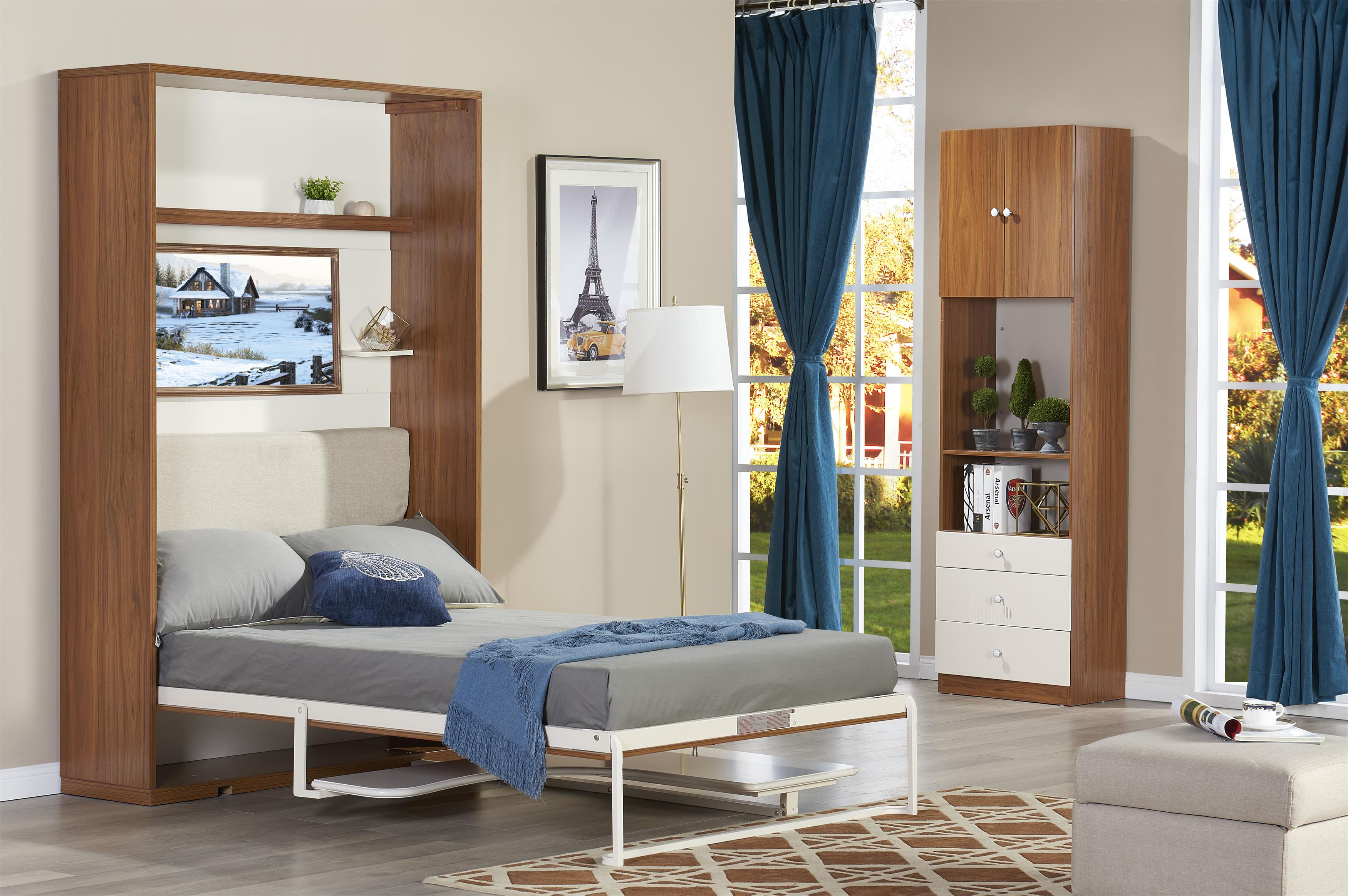 Save Spacing Transverse Table Function Wall Bed