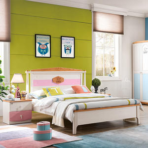 Modern Kids Solid Wood Bedroom Furniture Set For Children Middle East Style Bedroom Furniture