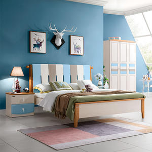 2019 New Solid Wood Kids Bed Kids Bedroom Set Wooden Children Bed