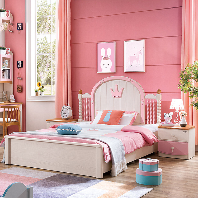 Bed Kids Rest House Beds Children Bedroom Pink Furniture Sets For Girls