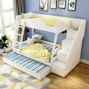 Custom Children Furniture Cheap Wood Kids Bunk Beds Set