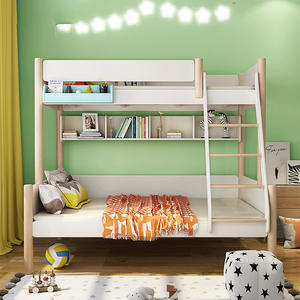 2019 New Design Imported America Ash Solid Wood Kids Bunk Bed,Solid Wood Bunk Bed For Kids