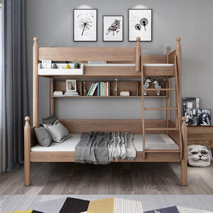American Ash Wood Loft Bunk Bed Kids Bunk Bed For Children