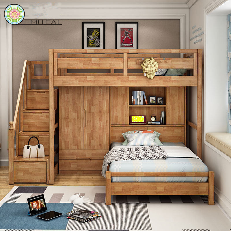 High Quality Simple Design Modern Bedroom Sets Foshan Children Furniture Bunk Bed